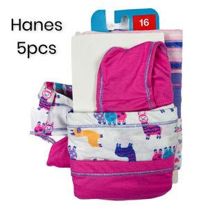 5pk Sz 16 Girls Tagless Hipsters Underwear